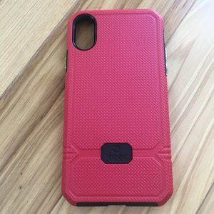 iPhone X 10 Red with Black Trim Case Slim Shock-ab